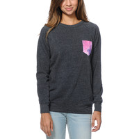 Glamour Kills Space Case Pocket Black Crew Neck Sweatshirt at Zumiez : PDP