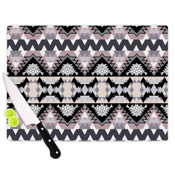 "Victoria Krupp ""Nordic Ice"" Black Pastel Digital Cutting Board"