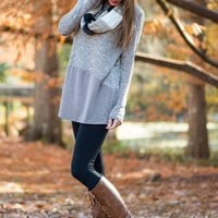Double Time Tunic, Taupe