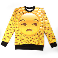 Emoji All Over Crewneck - TGIFresh