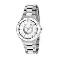 Game Time Pearl Series Indianapolis Colts Silver Tone & White Ceramic Mother-of-Pearl Watch - NFL-PEA-IND - Women (Grey)