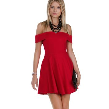 Sale- Red Leading Lady Skater Dress