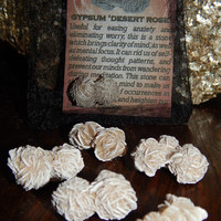 Genuine GYPSUM DESERT ROSE - Genuine Rough Gypsum Rose - 1+ Inch Gemstones - Eliminate Worry and Self Defeating Thought Patterns, Gain Focus