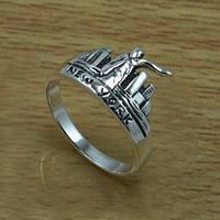 New York City 925 Sterling Silver Ring