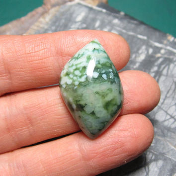 Designer Cabochon Ocean Jasper in Greens for Wire Wrapping