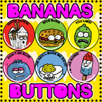 BANANAS BUTTONS SMALL 012