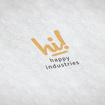 Happy Industries / Pre-made Logo Design / Etsy Set, Social Media Profile Set / One Of A Kind Logo Design / Unique Full Brand Set... and More