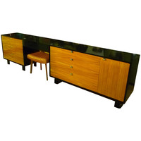 George Nelson Dresser and Vanity Set in Primavera