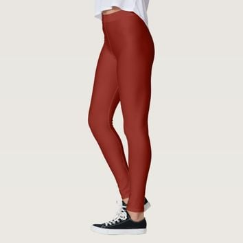 temp Solid Indian Red Leggings