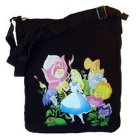 Alice In Wonderland Canvas Tote Handbag Purse