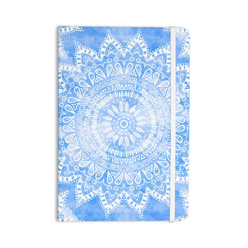"Nika Martinez ""Boho Flower Mandala in Blue"" Aqua Everything Notebook"