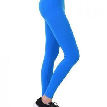 High Waisted Solid Leggings