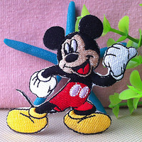 Disney Mickey Mouse iron on applique E0128 by happysupply on Etsy