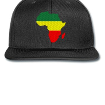 Africa embroidery snapback