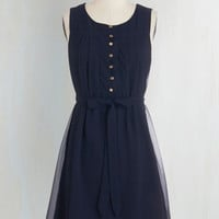 Nautical Mid-length Sleeveless A-line Bayfront Bliss Dress