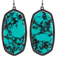 Danielle Earrings in Variegated Teal Magnesite - Kendra Scott Jewelry