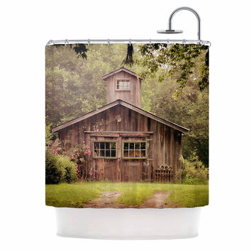 "Angie Turner ""Shabby Chic Barn"" - Nature Photography Shower Curtain"