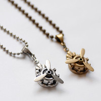 Spinning Propeller Necklace, Pilot Gift, Airplane Propeller Necklace, Aviator Jewelry, Military Veteran Gift, Spinner Necklace, SRAJD