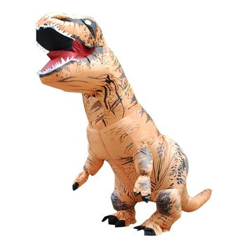 Adult T-REX Inflatable Dinosaur Costume Carnival Cosplay Animal Fantasias Fancy Dress Jumpsuit Halloween Costume for Women