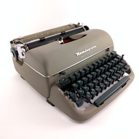 Reconditioned Remington Quiet-Riter Vintage Typewriter - Working Remington Portable Typewriter - Olive Typewriter - Excellent Condition