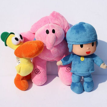 Pocoyo Plush Toys 12-30cm Pocoyo Elly Pato Elephant Duck Stuffed Animals Plush Toys Soft Dolls for Kids Free Shipping