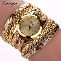 Bohemian Style Leather Wrist Watch from SheShopper.com