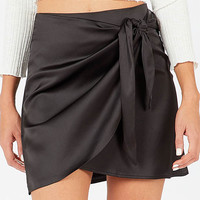 Luna Wrap Skirt - Black