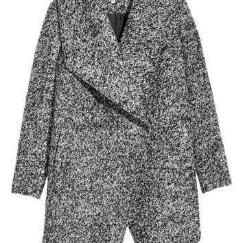 Double-breasted Coat - Dark gray melange - | H&M US