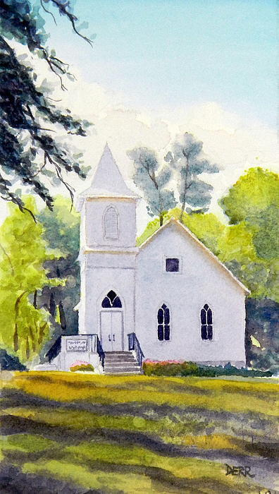 Old Country Church Painting By Todd Derr From Fine Art America