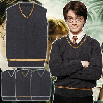 Cool V Neck Sweater  Sweater Gryffindor Daily Clothes for Harri Potter CosplayAT_93_12