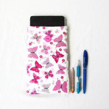 Butterfly Kindle case, 7 inch tablet sleeve, fabric kindle cover, suitable for nexus 7, kindle touch, paperwhite or fire, handmade in the UK