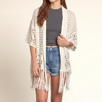 Open Stitch Fringe Sweater