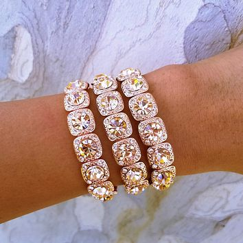 Sparkling Statement Bracelet Set