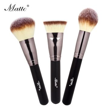 Matto 3pcs Makeup Brushes Set Beauty Cosmetics Powder Blush Foundation Brush for Makeup Contour  Make Up Tools Shadow Cream