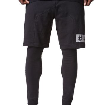 Been Trill Short With Legging Pants - Mens Pants - Black