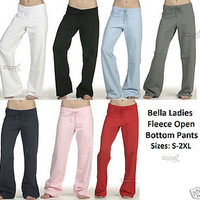 Bella Yoga Pant Cotton Fleece Sweatpant 7017 S-2XL Straight Leg Sweatpants SALE