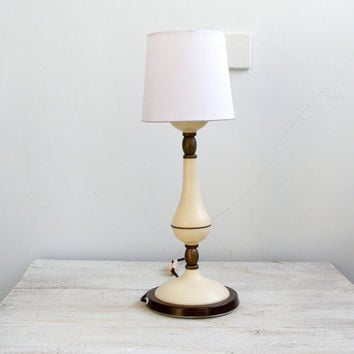 Mid Century Side Table lamp, Night Stand Lamp, White desk Lamp, Bed side Lamp, Mad men Office environmental decoration
