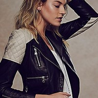 Doma Quilted Colorblocked Jacket