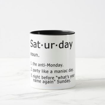 Saturday by Definition Mug