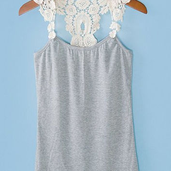 Lace Strap Tank Top - not available