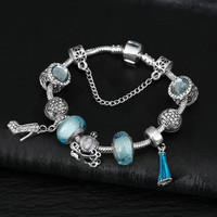 Stylish Luxury Ladies Crystal Shoes Princess Bracelet Gift [10893371087]