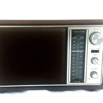 Radio Vintage Rare Realistic MTA-12 FM AM Electric Model 12-683 Portable Works!