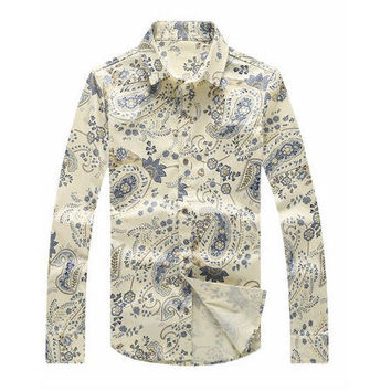 Back to The 60s Mens Paisley Shirt