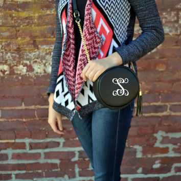 Monogram Circle Purse Fall Gold Chain Crossbody