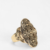 Bali Etched Floral Ring - Urban Outfitters