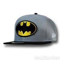 Batman Symbol Black Bill Grey 59Fifty Cap