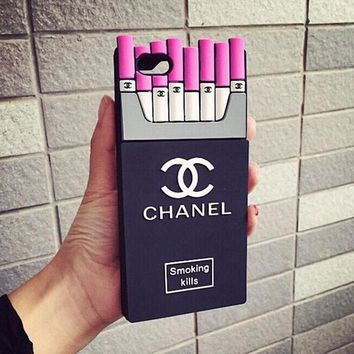 One-nice™ Perfect Chanel Fashion Personality Cigarette iPhone Phone Cover Case For iphone 6 6s 6plus 6s-plus 7 7plus