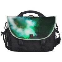 Green Alien Jellyfish Photo Edit from Outer Space Laptop Commuter Bag from Zazzle.com