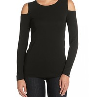Bailey44 Cheek to Cheek Top in Black | Cut Out Shoulder Top