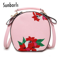 Embroidery women leather shoulder bag women handbags luxury ladies messenger bags brand handbag small clutch bag 9V5193